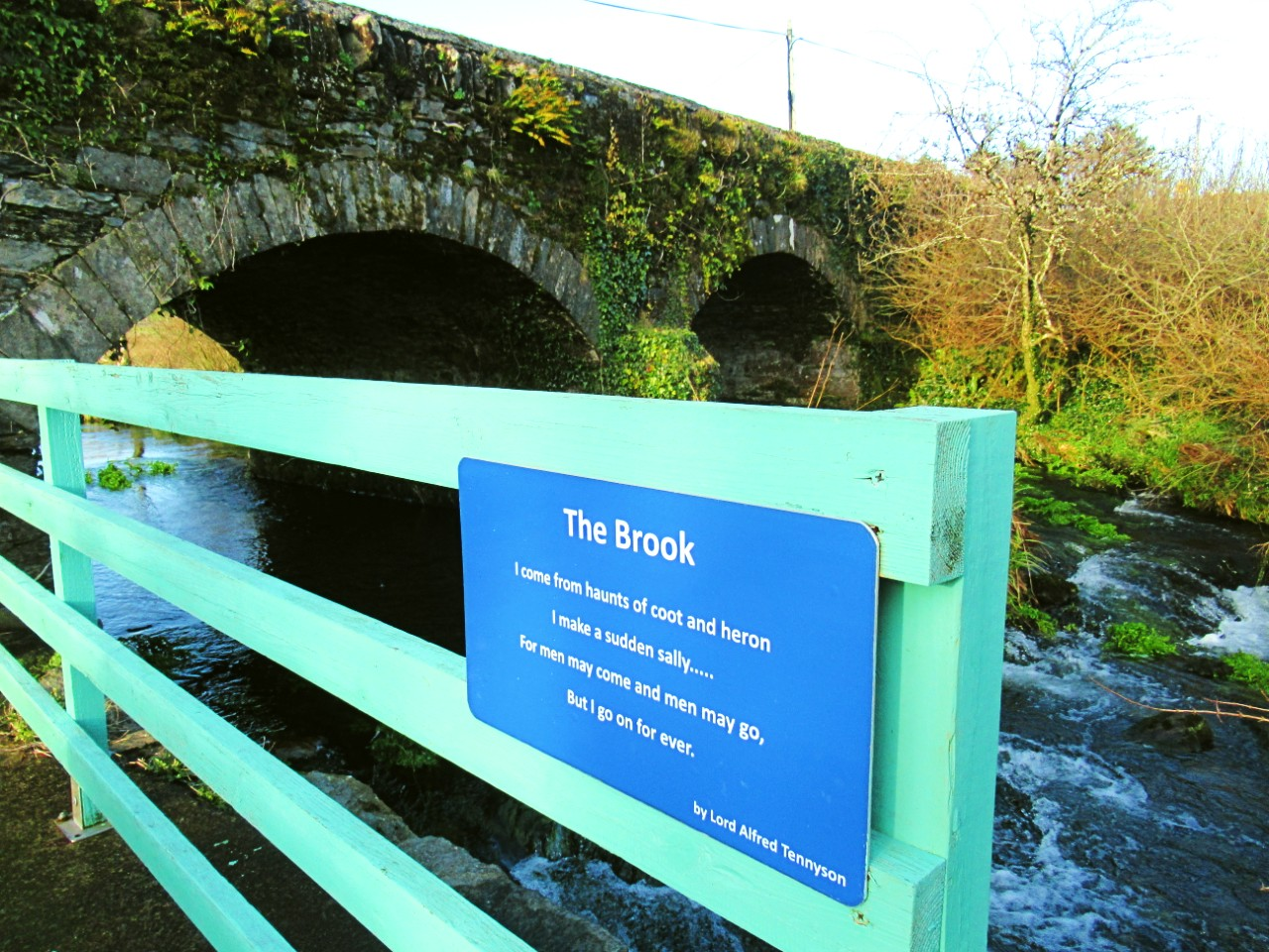 The Brook poem by Tennyson at the start of Deelish Cascades walk